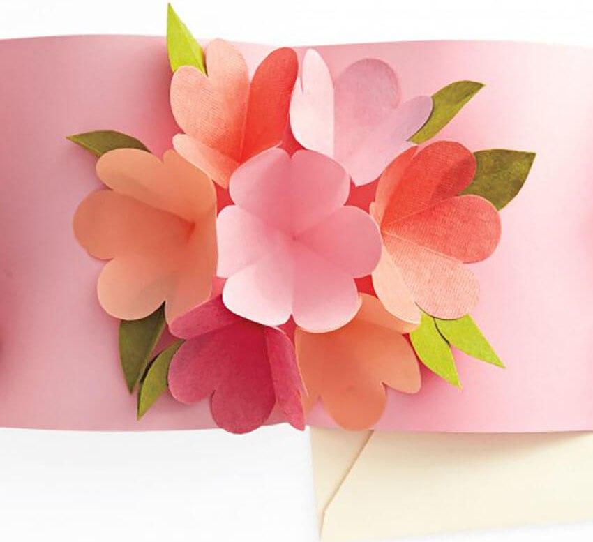 Открытки с объемными цветами своими 225